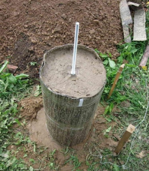 Столбчатый фундамент из труб своими руками