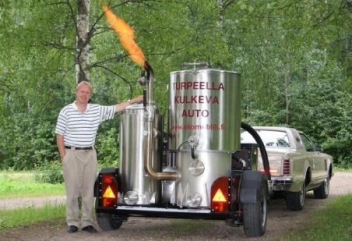Автомобиль на дровах - газогенератор на авто