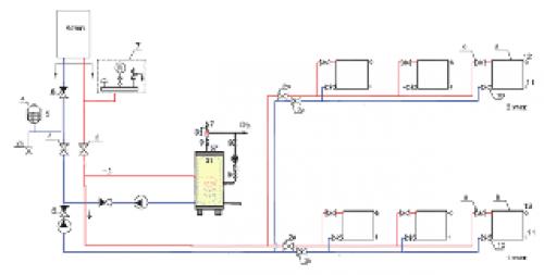 Подключение бойлера через дополнительный насос к газовому котлу