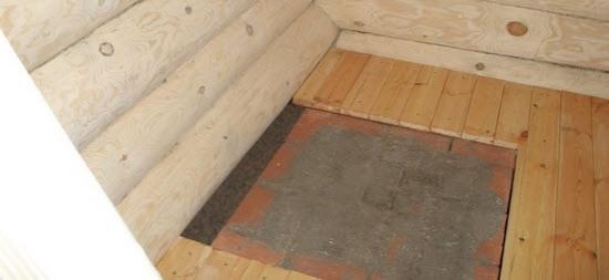 Фундамент под печьв баню с деревянным полом