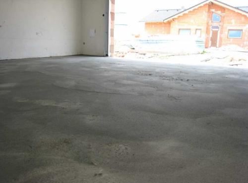 Бетонный пол гаража