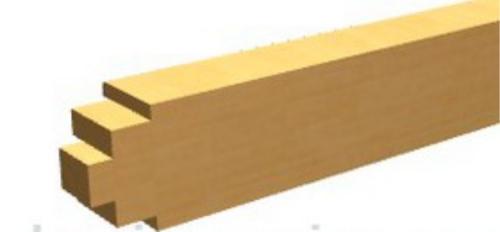 Профиль горизонтальной обвязки для двери в баню