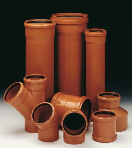 Оранжевые трубы ПВХ наружные (жесткие)