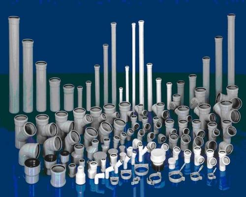 Серые трубы ПВХ для внутренней канализации (жесткие)