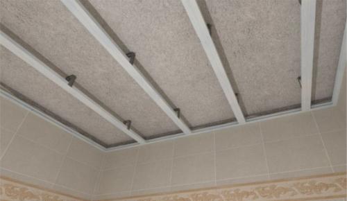 Каркас потолка из пластиковых панелей