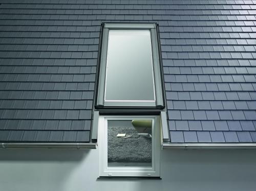 Карнизное окно - мансардное окно