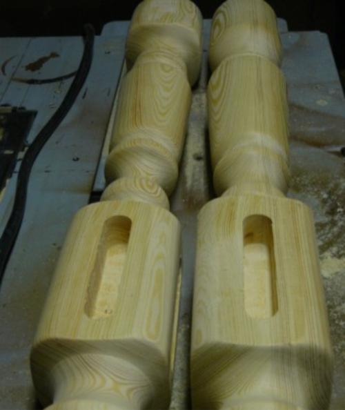 Деревянный кофейный столик своими руками - проушины в ножках