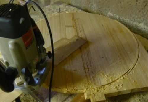 Деревянный кофейный столик своими руками - круглая столешница