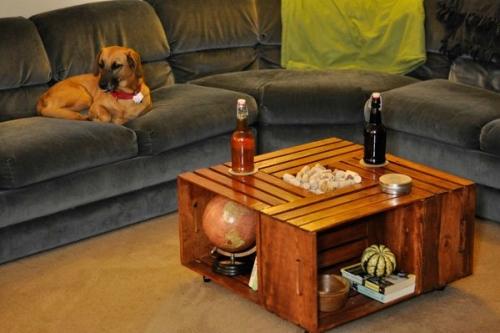 Кофейный столик «ящики» из фанеры