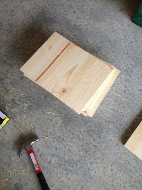 Кофейный столик «ящики» из фанеры - боковые стенки
