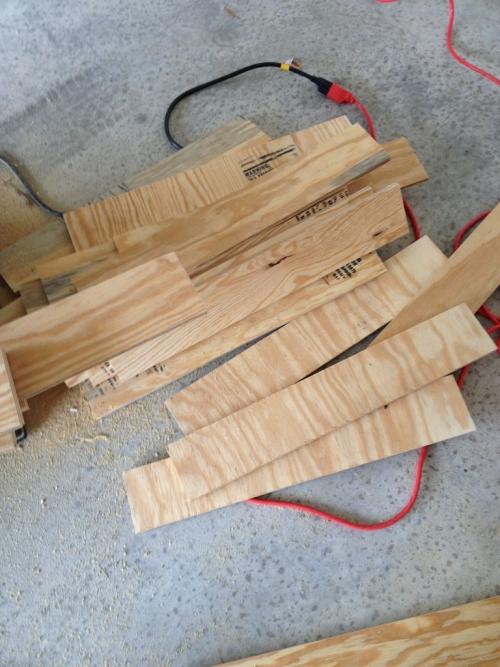 Кофейный столик «ящики» из фанеры - планки для ящиков