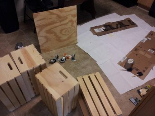Кофейный столик из готовых ящиков своими руками