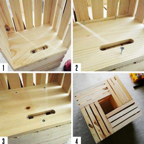 Кофейный деревянный столик из ящиков своими руками - сборка стола