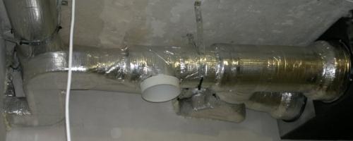 Крепление воздуховодов вентиляции хомутами