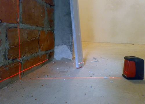 Нанесение разметки лазерным уровнем
