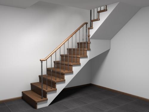 Маршевая лестница в коттедже