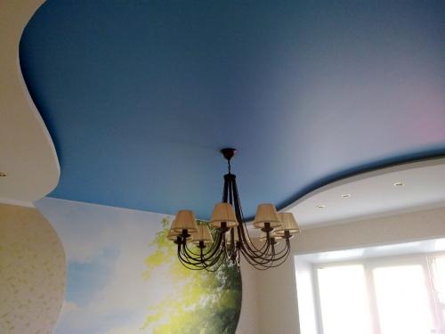 Матовый тканевый потолок