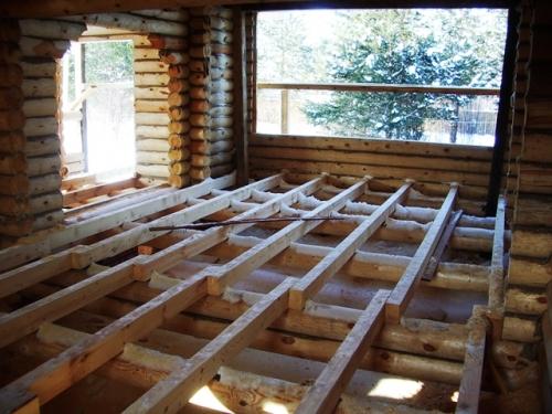 Межэтажные перекрытия в доме из оциллиндрованного бревна