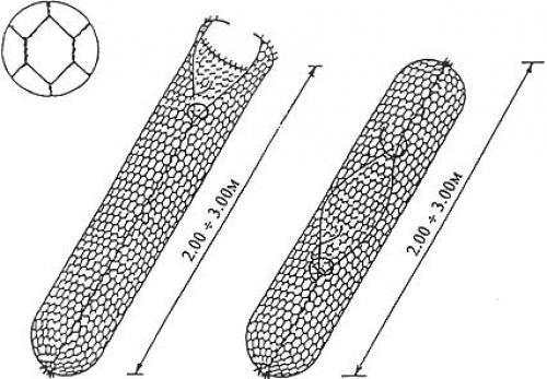 Монтаж цилиндрических габионных конструкций 1