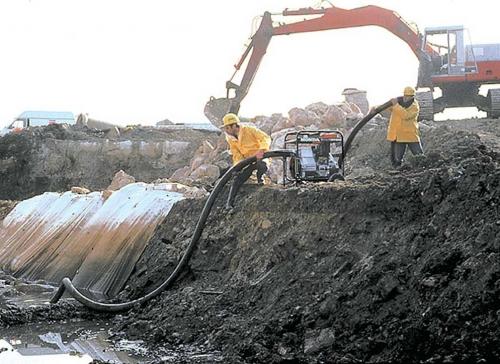 Мото помповый насос для грязной воды