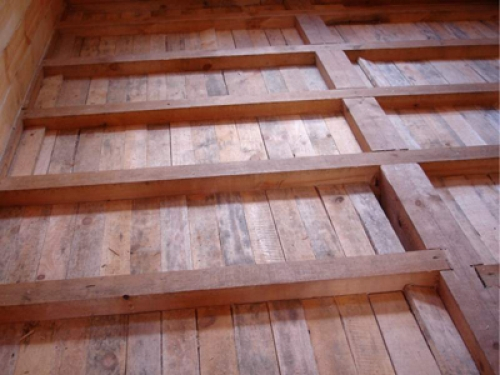 Накат деревянного пола