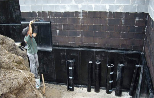 Оклеечная гидроизоляция технониколем