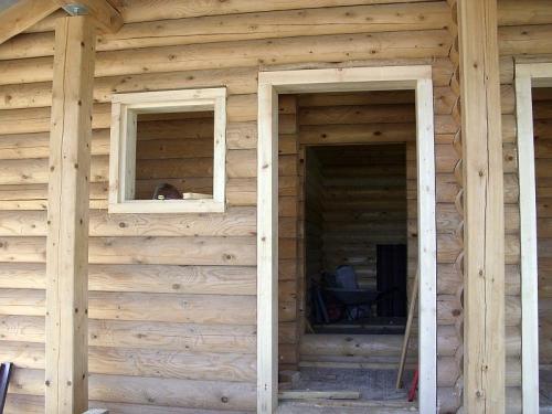 Окосячка и обсадка бревенчатого дома