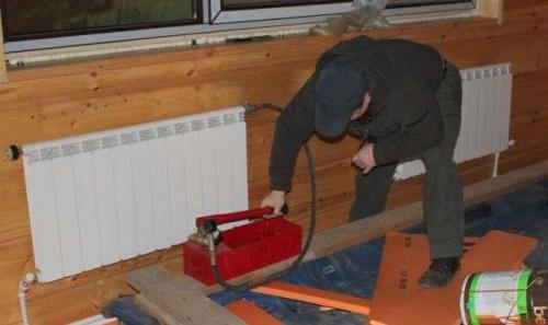 Опрессовка системы отопления в коттедже