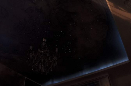 Потолок Звездное небо из оракала и лака