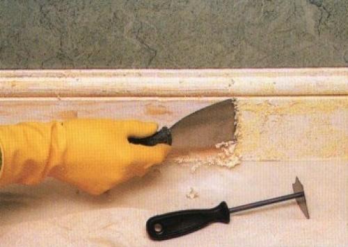 Как убрать старую краску со стен