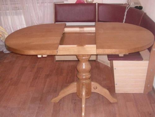 Овальный раскладной кухонный стол