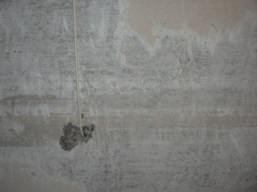 Подготовка поверхности - очищение стен от шпаклевки