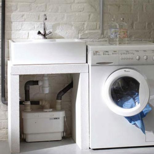 Подключение канализационного насоса на кухне