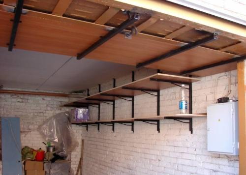 Подвесные полки для гаража