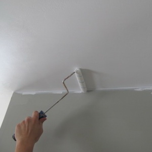 Как покрасить потолок в туалете