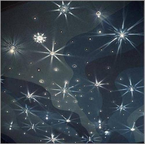 Натяжной потолок Звездное небо с кристаллами Сваровски