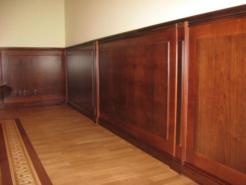 Отделка стеновыми деревянными панелями