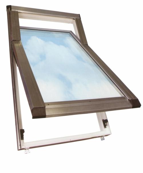 Мансардные окна с приподнятой осью