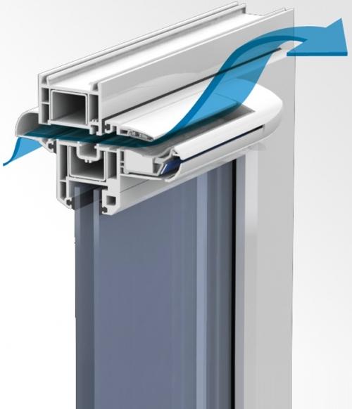 Приточный клапан в металлопластиковом окне