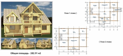 Проект дома из оциллиндрованного бревна