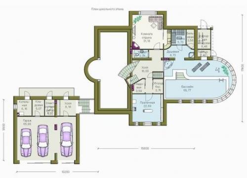 Проект коттеджей из кирпича 1 этаж