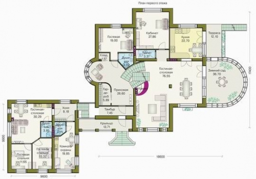 Проект коттеджей из кирпича 2 этаж