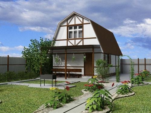 Проект крыши частного дома 2