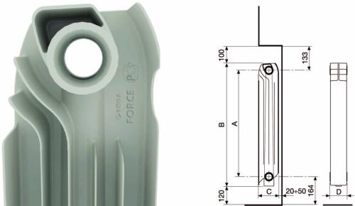 Размеры радиатора отопления