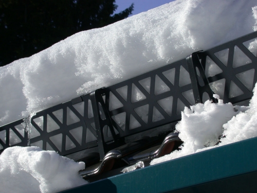 Устройство снегозадержания на кровле