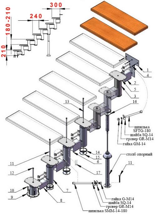 Лестница своими руками схема из металла