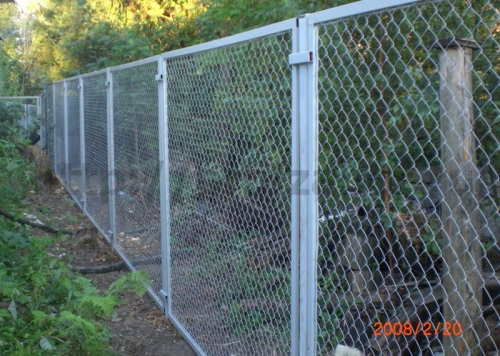 Сетка рабица забор своими руками