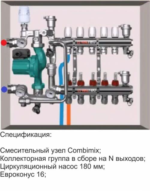 Коллектор теплого пола Valtec на 3-12 контуров (30-150 кв.м.)