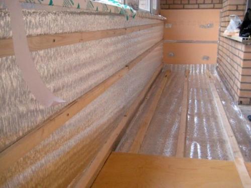 Создание каркаса для отделки балкона вагонкой
