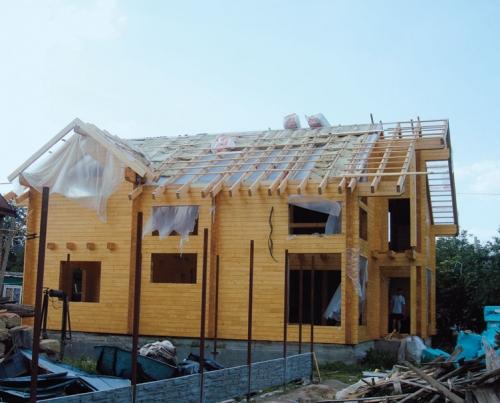 Создание крыши дома из клееного бруса